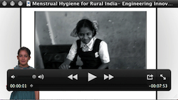 video pic of menstrual hygiene in rural india