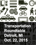 transportation image with words roundtable meeting in Detroit Oct 22, 2015